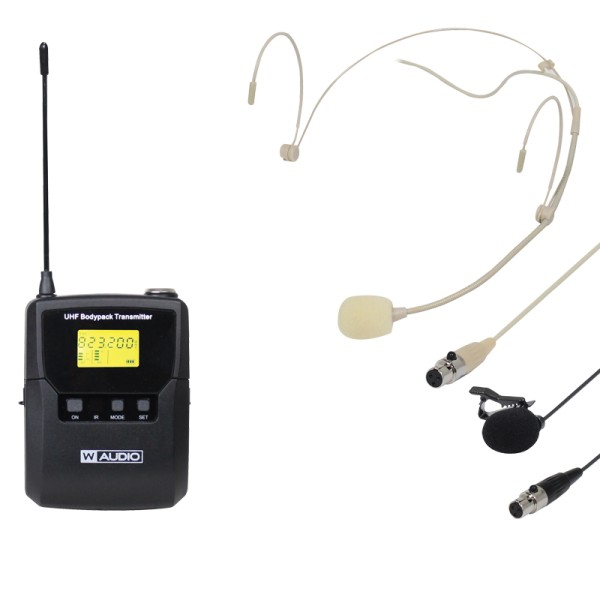 W AUDIO DQM 800BP Add On Beltpack Kit (823Mhz – 865Mhz)