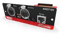 Nexo NXDT104 is a Dante Plug In Card