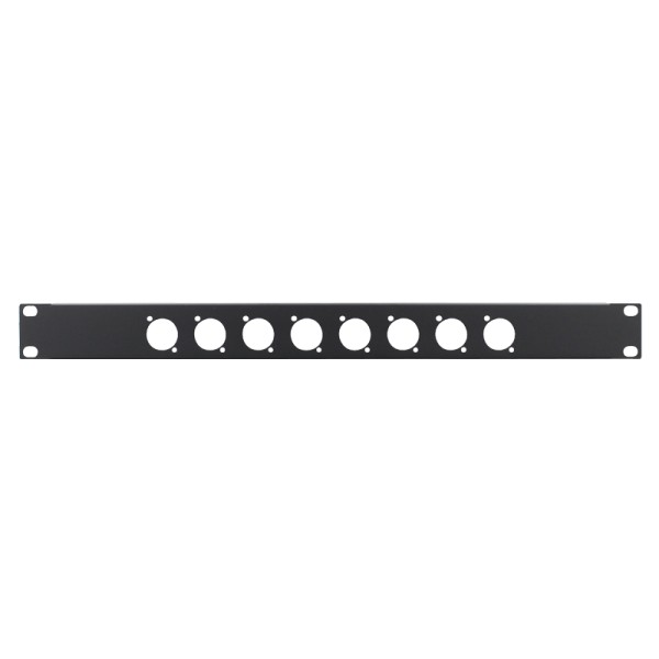 Penn Elcom 1U 19 Inch Punched Rack Panel – 8 D Type (R1269/1UK/08)