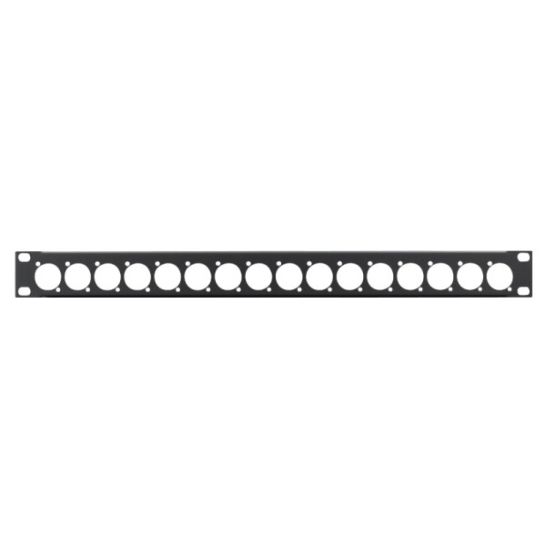 Penn Elcom 1U 19 Inch Punched Rack Panel - 16 D Type (R1269/1UK/16)