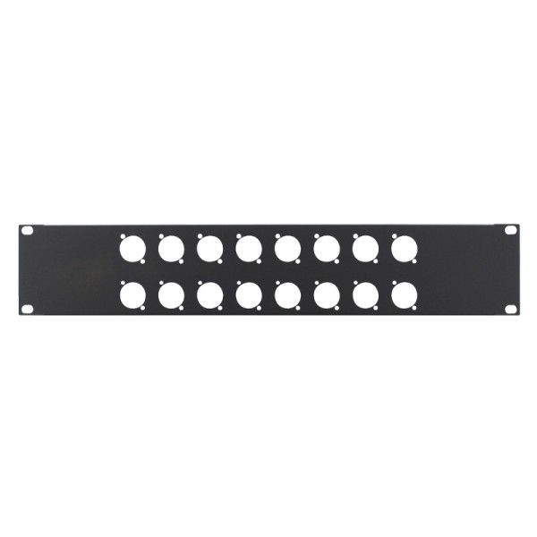 Penn Elcom 2U 19 Inch Punched Rack Panel -16 D Type (R1269/2UK/16)