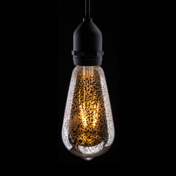 Prolite 4W Dimmable LED ST64 Crackle Filament Lamp 2200K BC