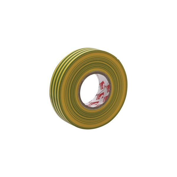 eLumen8 Premium PVC Insulation Tape 2702 19mm x 33m - Yellow/Green