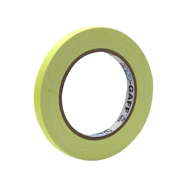 eLumen8 Fluorescent Cloth Gaffer Tape 3170 12mm x 23m - Yellow
