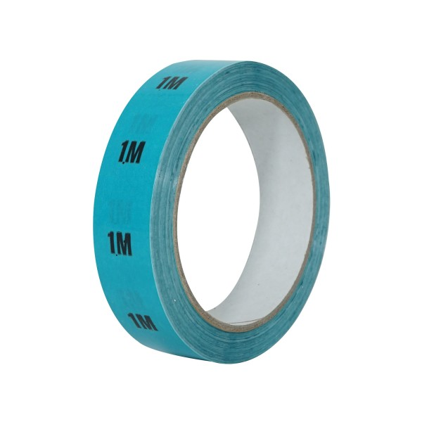 eLumen8 Cable Length ID Tape 24mm x 33m - 1m Light Blue