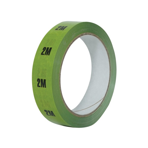eLumen8 Cable Length ID Tape 24mm x 33m - 2m Light Green