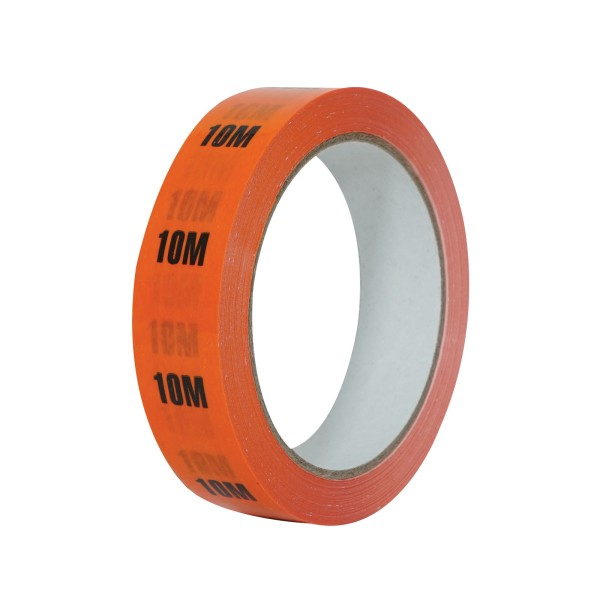 eLumen8 Cable Length ID Tape 24mm x 33m - 10m Orange