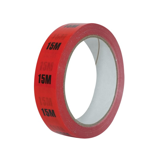 eLumen8 Cable Length ID Tape 24mm x 33m - 15m Red