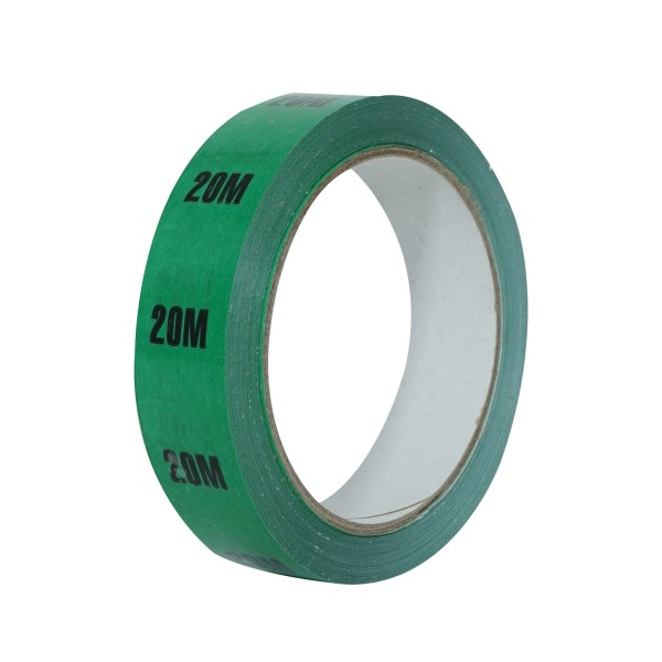 eLumen8 Cable Length ID Tape 24mm x 33m - 20m Green