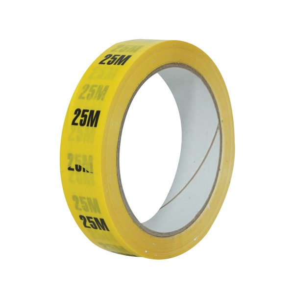 eLumen8 Cable Length ID Tape 24mm x 33m - 25m Yellow