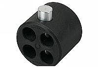 Wentex Pipe and Drape 4-way Connector Replacement Kit 47.5mm Diameter - Black