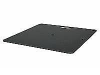 Wentex Pipe and Drape Baseplate 600 x 600mm 14Kg - Black (Powder Coated)
