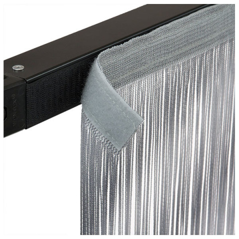 Wentex Pipe and Drape - String Curtain 3m x 3m Grey