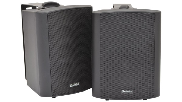 Adastra BC5A-B 5.25 Inch 2-Way Amplified Speaker Set, 30W RMS each in Black
