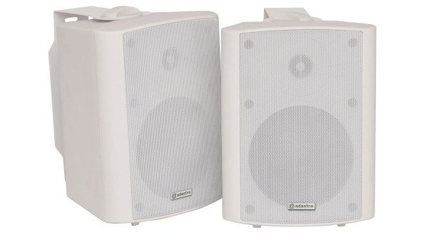 Adastra BC5A-W 5.25 Inch 2-Way Amplified Speaker Set, 30W RMS each in White