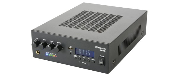 Adastra CM30B Compact Mixer-Amplifier, 30W @ 8 Ohm or 100V Line with USB, FM Tuner and Bluetooth