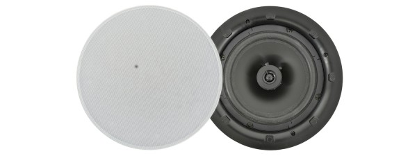 Adastra LP8V 8 Inch Low Profile Ceiling Speaker, 60W @ 8 Ohms or 100V Line - White