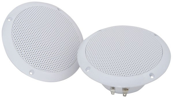 Adastra OD5-W4 5 Inch Water Resistant Ceiling Speaker Pair, IP35, 35W @ 4 Ohms - White