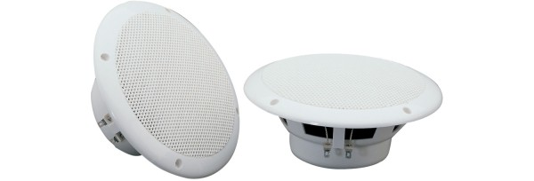 Adastra OD6-W8 6.5 Inch Water Resistant Ceiling Speaker Pair, IP35, 40W @ 8 Ohms - White