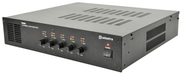 Adastra RS605 Slave Amplifier, 5x 60W @ 8 Ohm or 100V Line