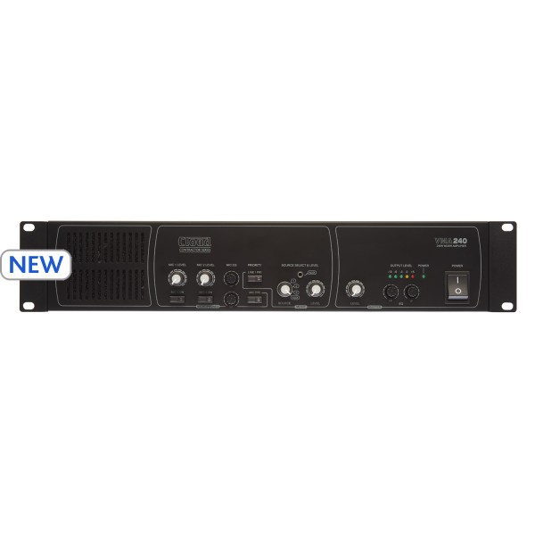 Cloud VMA240 Mixer Amplifier, 240W @ 4 Ohm or 25V / 70V / 100V Line