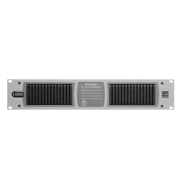 Cloud CV2500 2 Channel Amplifier with Internal DSP, 500W @ 70V / 100V Line