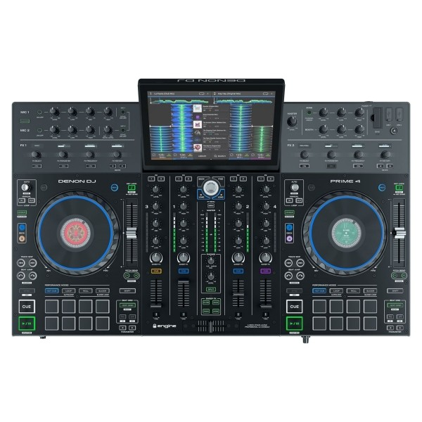 Denon Prime4 Four Deck Standalone DJ System with 10 inch Touchscreen