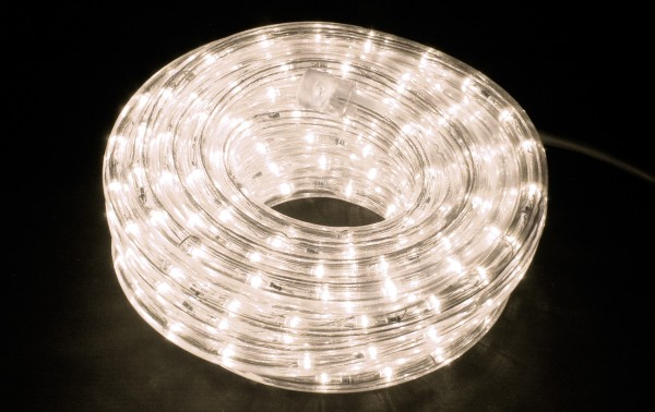 Fluxia RL50MWW Warm White LED Rope Light Set with Controller, 50 metre