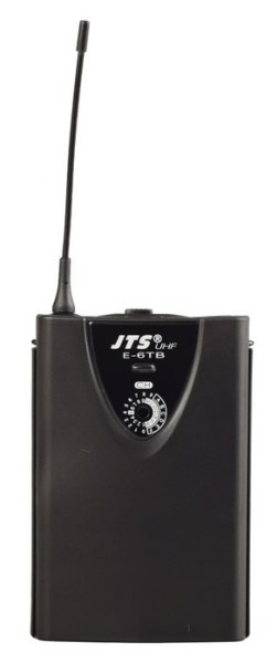 JTS E-6 UHF PLL Single Channel Diversity Receiver with JTS E-6TB Body Pack Transmitter - Channel 70