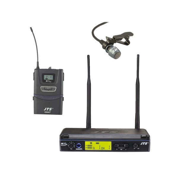 JTS IN-164 Series UHF PLL Single Channel Diversity Lapel Wireless Microphone System - Channel 38