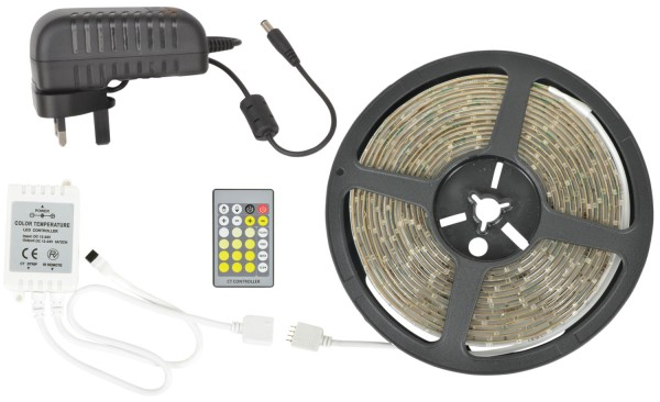 Lyyt DIY-DW120 Warm and Cool White LED Tape Kit, IP65, 5 metre with 60 LEDs per metre