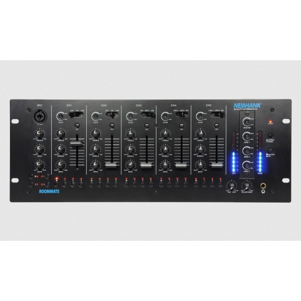 Newhank Roommate Mixer with 11 Line Inputs, 3 MIC Inputs & 2 USB IO