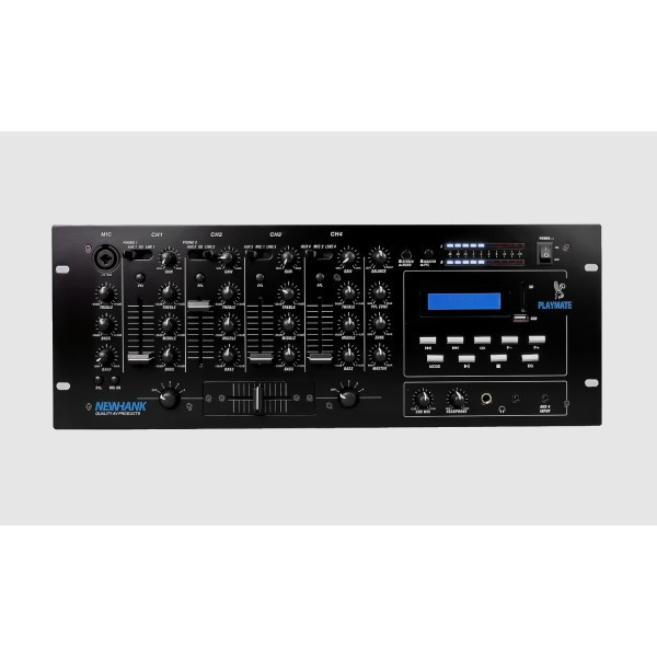 Newhank Playmate 8 Line inputs, 3 Mic inputs, USB, SD, BlueTooth Player
