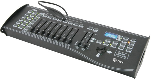 QTX DM-X12 DMX Lighting Controller, 192 Channels with Joystick