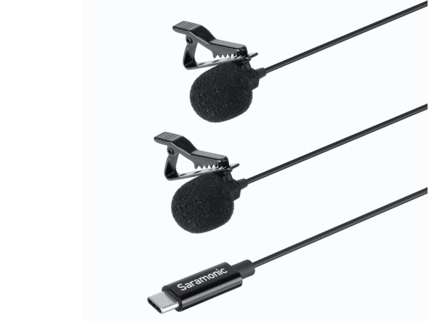 Saramonic LavMicro U3C Dual Lavalier Microphone with USB Type-C connector - 6 metre